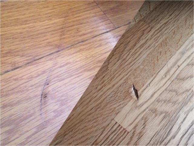 床・フローリングのリペア